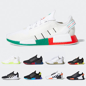 Adidas NMD R1 V2 Aqua Tones Munich NMD R1 V2 Mens Running shoes Mexico City Gold Metallic Core Black Bright Volt Athletic Men Women Sports designer sneakers