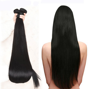 Cuticle Aligned Hair Raw Unprocessed Indian Hair Brazilian Remy Human Hair Bundles Straight 30-40inch 100g Bundle Free Shipping Wholesale