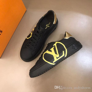 los zapatos de lujo de alta calidad clásico de los calzados informales de los hombres zapatillas de deporte del patín brillo brillo talón de los zapatos de vestir de tenis