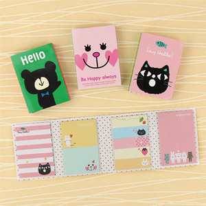 Kawaii 4 Folding Memo Pad 1 PC Sticky Notes Memo Notepad Bookmark Gift Stationery cute sticker
