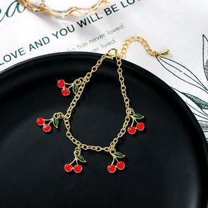 Doce vermelho cereja pulseiras para Mulheres presentes bonitos para Jóias Girlfriends Student pulseira atacado
