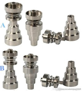 Universal Titanium Nail 10mm&14mm&19mm GR2 Domeless Titanium Nail Joints 6 IN 1 domeless titanium nail, Water pipe Smoking Pipes Glass bongs