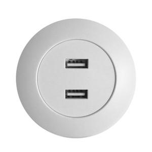 유니버설 화이트 주택 듀얼 USB 포트는 전원 콘센트 역 스마트 가구 액세서리 하드웨어 전화 충전기 소켓 DC5V2A 입력 충전