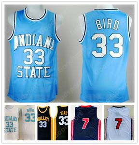 CALDO INDIANA State College NCAA cucita 33 Larry Bird ha cucito ricamo swingman maglie GIOVANILI T-shirt bambini CORTI SR