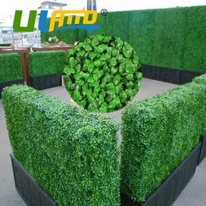 """El boj artificial Valla setos de privacidad para las plantas de jardín de plástico 10X10"""" boj Coberturas Mats decoración del boda del jardín"""