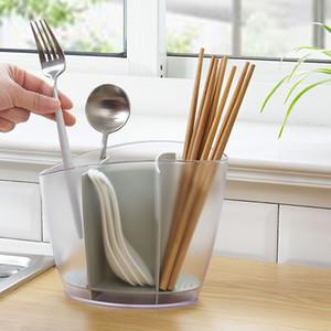 حامل السكاكين Baffect الرف أدوات الجرف البلاستيك خزائن المطبخ حامل عيدان أدوات المائدة تخزين الرف حامل السكاكين