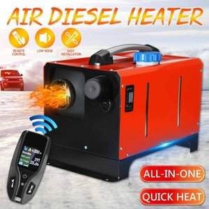 All in One Unit 1-8KW 12V Car Heating Tool Diesel Air Heater Single Hole LCD Monitor Parking Warmer For Car Truck Bus Boat RV