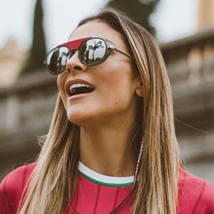 New fashion women 2210 designer sunglasses round retro frame with rope color coated lens avant-garde pop style uv400 lens top quality