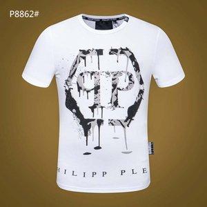 202 Impresso Phillip Plain T-shirt Moda Casual fresco aptidão O pescoço Urso T camisa dos homens Summer manga curta Men Roupa A3