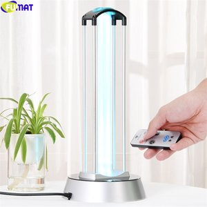 40 W Lampada UV Desinfect doppio tubo Sterizzazione Lampade A Raggi Ultravioletti UV Germicida Luce di Telecomando Timer disinfezione aria ozono