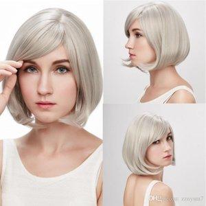 Nouveau Blond Courts perruques frisées Coiffure Mode main résistance à la chaleur perruque synthétique + perruque Cap