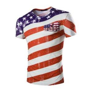 Imprimer la mode USA manches courtes 3D imprimé soccer fans T-shirts occasionnels Coupe du monde Hommes T-shirts Taille Tendance Plus M-2XL