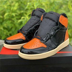 2019 de haute qualité New 1s Brisées Backboard 3.0 Chaussures de basket-ball Hommes Noir pâle vanille Starfish 555088-028 Sport Sneaker Taille 7-12