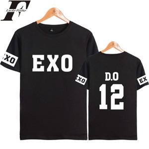 Luckyfridayf Kpop Exo Kay Sehun Xiumin Baekhyun Terra Aufkleber T-Shirt Damen T-Shirt Damen Exo T-Shirt Harajuku Exo Fans Top Tee Y19072001