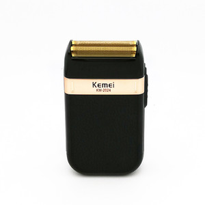 Kemei rasoir électrique pour homme double lame étanche sans fil rasoir USB Reciprocating rechargeable rasage machine Trimmer salon de coiffure