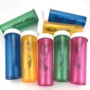 Emballage de cils vides Boîte à visser les cils Boîtes de maquillage Tool de maquillage Paquet Faux cils Boîte Emballage vide Boîte d'emballage sans cils KKA7831