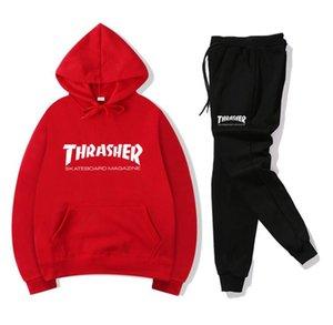 Hot Sale Mens Sports Suits Coat Tracksuit Sweatshirt Hoodies + Pants Set Male Sweatshirt Pullover Women Sports Tracksuit Sweat Suit