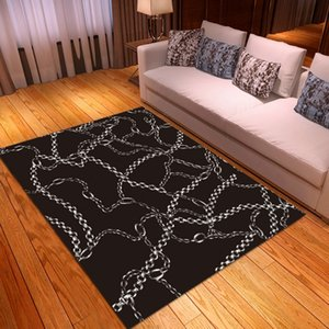 Retro Chain Print Modern Bedroom Decor Floor Mats Area Rugs Bathroom Kitchen Mats Anti Slip Carpet Custom Entrance Doormats
