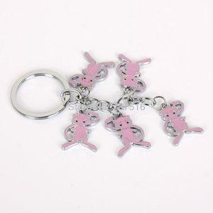 Nuevos regalos de la llegada de Japón Animación rosado encantador Mew Películas Animal Metal Producto vacaciones