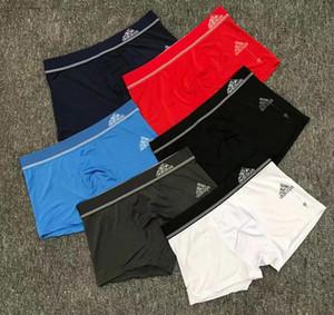 Sudar-absorbente 2020 nueva diseñador masculino Boxer Moda de seda del hielo de los hombres de la ropa interior de los deportes para hombre de los calzoncillos cortos escritos del boxeador