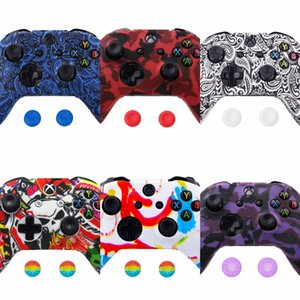 uTUcM One Soft Silicone Flexible Camouflage Rubber Skin Case Cover Controller Xbox Xone Slim For Grip Cover XB-ONE waterproof Anti-dust