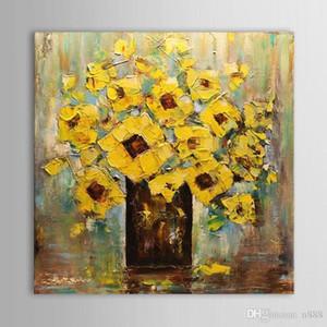 Espátula moderna resumen de flores pintado a mano la impresión de HD arte pintura al óleo del arte de la pared Decoración En Canvas.Multi tamaños L62 200311