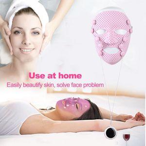 Silikon 3D Yüz Maskesi Elektrik EMS Titreşim Güzellik Masaj Cilt Bakımı Gençleştirme Anti-kırışık Akne Temizleme Yüz Beauty Spa