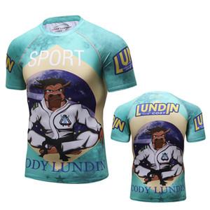2018 New alta qualidade de compressão camisa de manga curta 3D Imprimir MMA Rashguard de Fitness Musculação shirt dos homens de BJJ UFC T Tops Y200409