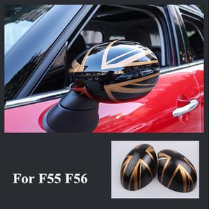 Ein Paar Rückspiegel Dekoration Shell Cover Gehäuse für Mini Cooper JCW F56 F55 Car-Styling-Zubehör-Spiegel-Abdeckung