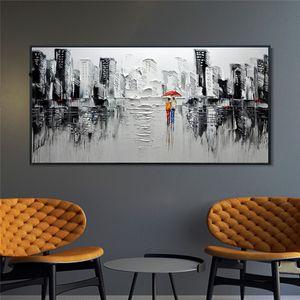 Cadre de grande taille Cuadros Diy peinture By Numbers Résumé City Wall Art Image unique cadeau pour la maison Décoration d'intérieur Salon 60x120cm