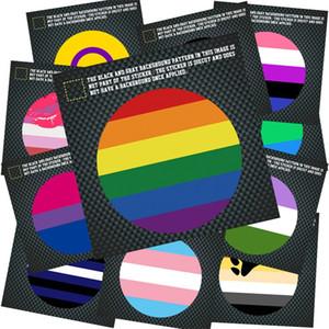 حار بيع الأزياء rainbow flag ملصقات غاي سيارة الشارات يلة العاكس المقرب القلب جولة ساحة الشكل 3lja e1