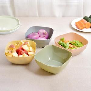 Vaisselle en plastique Mode Fruit Légumes bonbons Plaques de couleur en plastique de qualité alimentaire Place légumes Dessert Fruit Bowl WY348Q