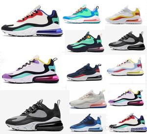 Nike Air Max 270 React Бесплатная доставка 97 LX дети Runing обувь мальчики бегун серебряный розовый синий черный дети открытый малыш спортивные мальчики девочки кроссовки