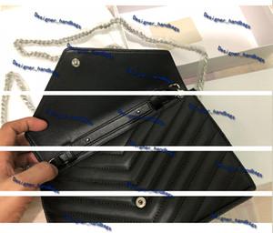Handtasche Top Qualität Echtes Leder Fashion Umhängetasche Metallkette Handtaschen Flip Cover Mappengeldbeutel diagonal Frauen Schultertasche mit KASTEN