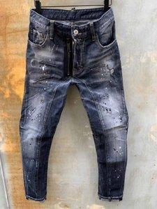 DSENQI NEW Men Jeans Zerrissene für Jeans-Hosen-Männer Outwear Mann Hosen T118