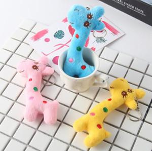 Nueva moda mini color mezclado lindo jirafa niños juguetes de peluche fiesta en casa encantos colgante regalo decoraciones envío gratis