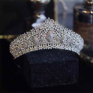Neue Ankunft 3A Zirkon-Kronen-Tiara-Kopfbedeckungen für Hochzeits- und Geburtstagsfeierkopfschmuckzusätze für Braut jewllery Brautschmuck