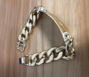 gioielli braccialetto in oro Designer braccialetti di stile fascino punk di doppia testa per gli uomini delle donne