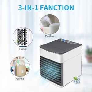 Portable Air Conditioner Usb Desktop Air Cooler Fan Air Conditioning Humidifier Mini USB Cooling Fan Sea Shipping LJJO8058