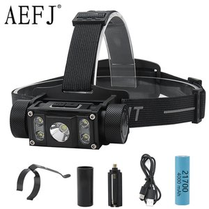 5000LM Super Bright 5 LED L2 Headlamp Type-C USB Rechargeable Lantern Waterproof Portable Camping Head Torches Light