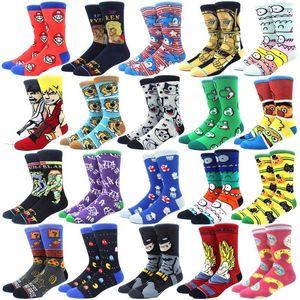 Kişilik komik Anime çorap Moda Karikatür mutlu Erkekler kadınlar Çorap yenilik yüksek kalite Dikiş deseni pamuk mürettebat Skarpety