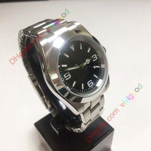 Alta calidad reloj hombres Explorador de 39mm Asia 2813 movimiento mecánico automático Negro esfera del reloj de los hombres de los relojes para hombre