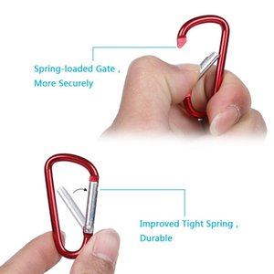 20PCS Trekking Aluminum Alloy D-ring Locking Carabiner Hook Buckle Keychain for Outdoor Camping Hiking Water Kit Climbing tools