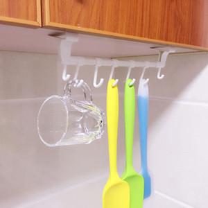 Cabinet Back Door portasciugamani in plastica Rag gancio del gancio Parete Asciugamani mensola del bagno di carta Titolare del tovagliolo di cucina mensola # LR3