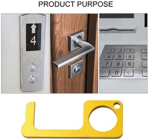 No-Touch Door Opener Closer Portable Handheld Stick for Push The Elevator Button Door Opener Hygiene Hand Keep Hands Clean Self-Cleaning