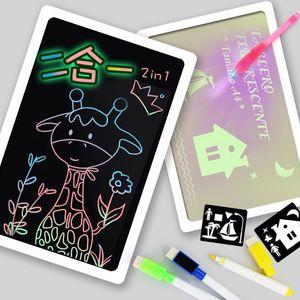 Tablero de dibujo 3D Light Up Kit de Dibujo pintada fluorescente luminoso Dibujar con la luz para regalos Niño Niños Niños Juguetes de Navidad XD22336