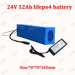 24v 12Ah lifepo4 pacco batteria formato lungo 24v 12ah BMS per 24v 250w 350w motore a batteria elettrica della bici bicicletta motorino + caricatore