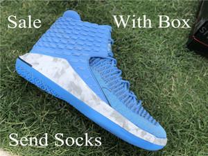 Hohe Qualität Jumpman 32 XXXII Basketball Schuhe kühles Blau Mens 32s Zoom Flight 32 Turnschuhe mit Kasten zum Verkauf