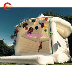 2021 Надувная свадьба Bouncer, коммерческая надувная белая Beouncy Caslte Jumping House для свадьбы