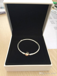 18K Rose Gold Clips Hand Chain BRACELET Original Box for Pandora 925 Sterling Silver Charms Bracelets for Women Mens